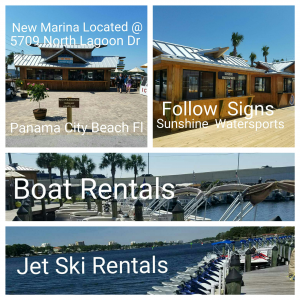 Sunshine Watersports Marina Location waverunner dolphin Tours